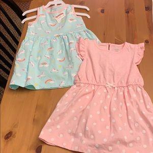 2 size 18 months carters dresses